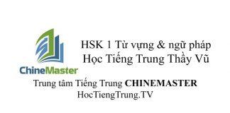 HSK Cấp 1 Từ vựng và Ngữ pháp