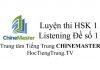 Tiếng Trung HSK 1 Listening Đề số 1 - Luyện thi HSK online