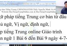 Trung tâm tiếng Trung Quận 10 Thầy Vũ