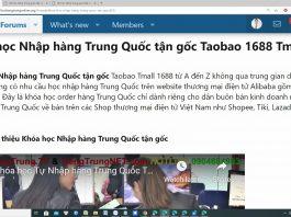 Từ vựng tiếng Trung về đặt hàng Taobao 1688 Tmall - Khóa học nhập hàng Trung Quốc tận gốc Taobao 1688 Tmall - Từ vựng tiếng Trung khi mua hàng taobao tmall 1688 - khóa học order hàng Quảng Châu Trung Quốc Thầy Vũ ChineMaster