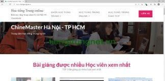 Giáo trình học tiếng Trung Quận 10 TP HCM bài 1 - Trung tâm tiếng Trung Quận 10 TP HCM ChineMaster Sài Gòn Thầy Vũ