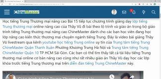 Giáo trình tiếng Trung thương mại Bài 7 - Giáo trình tiếng Trung thương mại ChineMaster - Giáo trình tiếng Trung thương mại cơ bản nâng cao - Khóa học tiếng Trung thương mại - Học tiếng Trung online Thầy Vũ